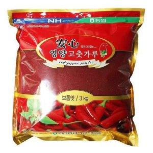 영양농협/산지직송  2019년 안심영양고춧가루일반 3kg(보통맛)