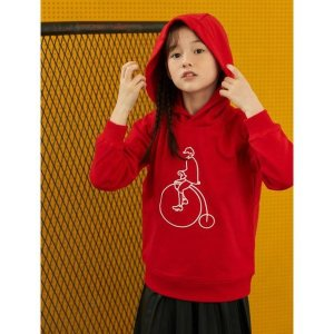 BEANPOLE KIDS  레드 나야나 후드 티셔츠 (BI0841U026)
