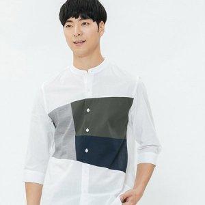 남성 블러킹 7부소매셔츠(30221-020-405-26)