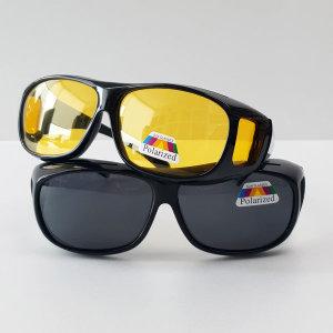 안경위에착용 UV차단 편광 선글라스 포렌즈 1+1+핀홀
