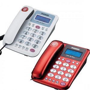 유선 일반/효도 전화기 MS-590 발신자 집/사무용 레드