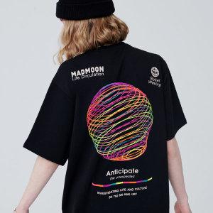 매드문 레인보우써클 오버핏 반팔티셔츠 남녀공용