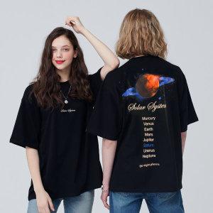 매드문 플래닛 오버핏 반팔티셔츠 남녀공용 면티