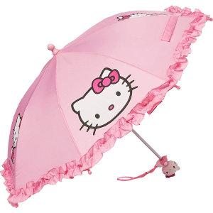 헬로키티 피규어 손잡이 프릴 우산