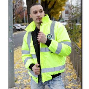 영국 경찰 야광 자켓