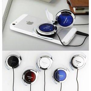 파나소닉 귀걸이형이어폰 블루 클립형 슬림이어폰