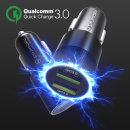 듀얼 QC3.0 차량용 고속 충전기 시거잭 핸드폰 휴대폰