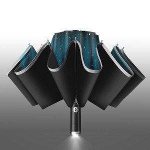 거꾸로 LED 3단 자동우산 장우산 우양산