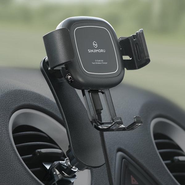 FOD오그랩발 자동차량용핸드폰 고속무선충전기 거치대