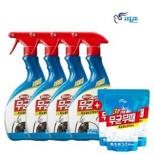 피죤 무균무때 욕실 세정제 500ml 4개 +사은품