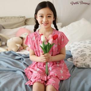 쁘띠쁘랑 러브도치 여아동 반팔 잠옷 세트 01880