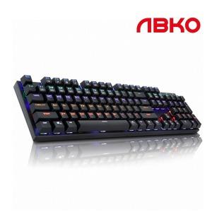 ABKO K640 LED 게이밍 기계식키보드 블랙 청축
