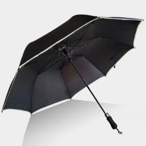 2단 자동 골프 우산 접이식 큰우산 튼튼한 대형 검정