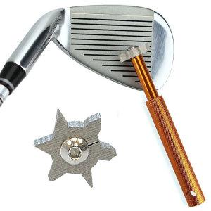 골프클럽청소기 6각 실버/헤드 그루브 클리너 샤프너