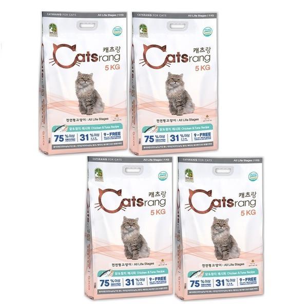 캐츠랑 전연령 5kg 4개 캣츠랑 고양이사료