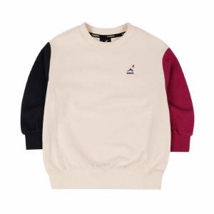 (현대백화점)AMCCRT01120LB 컬러 블록 스웨트셔츠 0112 라이트 베이지(남아 티셔츠여아 티셔츠남아 긴팔티