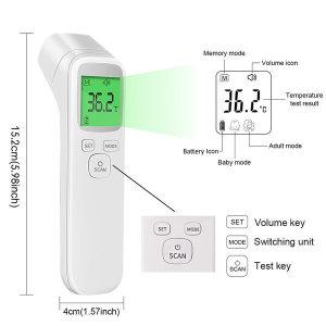 비접촉식 체온계 스마트 디지털 적외선  FDA인증