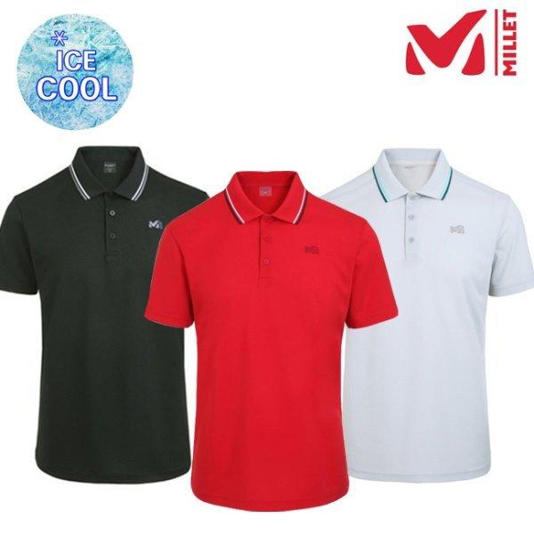 밀레 남성 올버스 냉감 카라 티셔츠 MUPUT474 LYMT