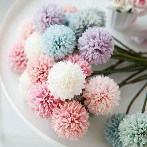 퐁퐁 국화 조화 인테리어 꽃 장식 폼폼 실크플라워