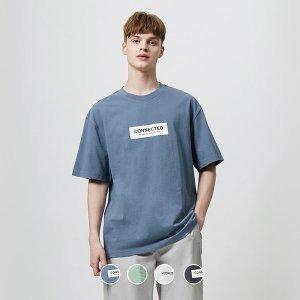 남 오버핏 프린트 반팔 티셔츠 090510