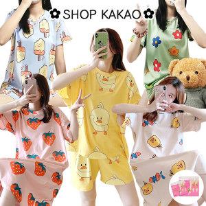 1+1 여성잠옷 여름잠옷 홈웨어 원피스 파자마 바지