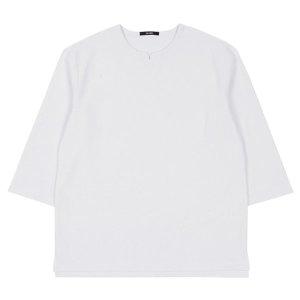 남성 넥슬릿 크롭 슬리브 티셔츠(HW7LT01)