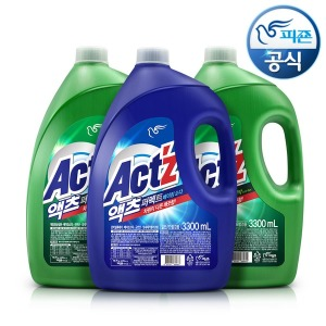피죤 세탁세제 액츠 퍼펙트 3.3Lx3개