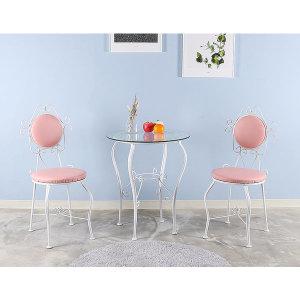 토브리빙 해바라기 투명 유리세트 테이블 1EA+의자 2EA