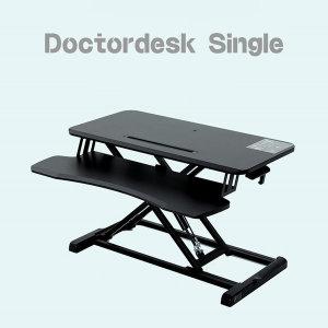 닥터데스크 싱글 높이조절 스탠딩 책상 모니터 1대사용