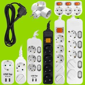 안전멀티탭 2구 3구 4구 5구 6구 8구 USB 개별 콘센트