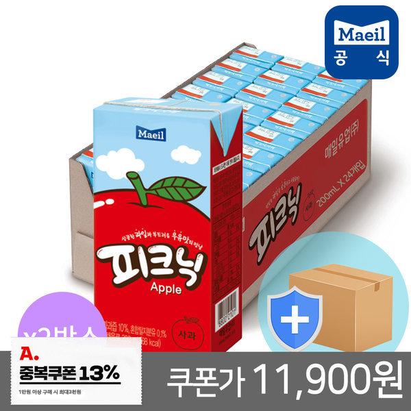 피크닉 사과 200ml 48팩/쥬스/주스/과채/과즙/음료