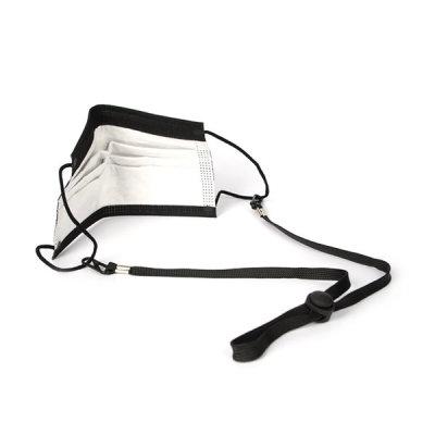 [바이어블] 마스크 목걸이 스트랩 분실 방지 걸이 귀아픔방지 블랙