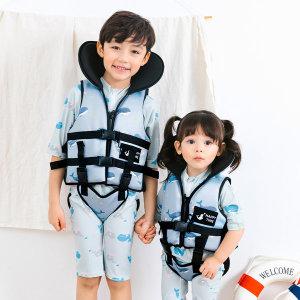해피타임 힙쉴드 유아동 구명조끼 수영보조용품 착용형