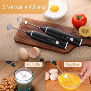 핸디형 충전식 전동 우유 달걀 스틱거품기 핸드믹서기