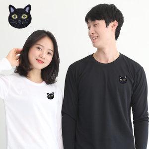 기능성 쿨론 단체 긴팔 고양이자수 쿨 티셔츠