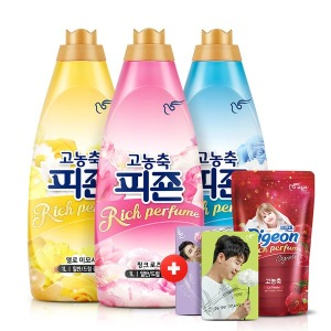 피죤 섬유유연제 리치퍼퓸 1LX3개+300ml+영탁A카드