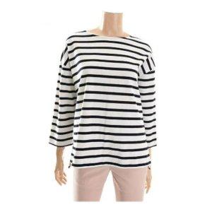 여성 10 S스트라이프 와끼배색 스트라이프 티셔츠(FHMMCTR503)