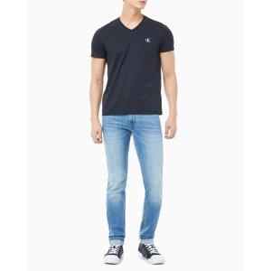 남성 슬림핏 브이넥 반팔 티셔츠(J315063)