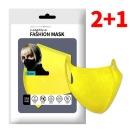 웰클린 네오프렌 패턴 패션마스크 1P 소형- 옐로우