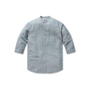 남성 린넨 코튼 밴드카라 7부 셔츠 EPA2WC1372