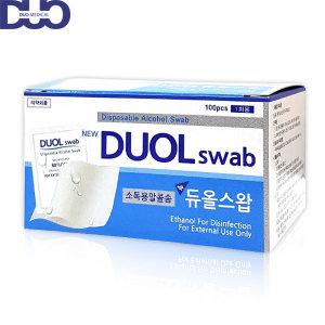듀올스왑 100매입 1통/알콜스왑 알콜솜 국산정품
