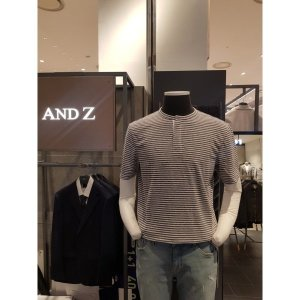 ANDZ 지오지아 린넨헨리넥 반팔티셔츠 BLZ2TV1007
