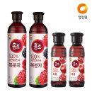 홍초 복분자 900mlx2개 +홍초 석류 250mlx2개
