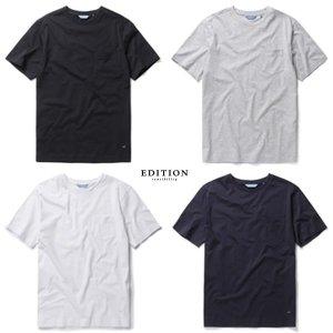 실켓 베이직 포켓 라운드 티셔츠 4종.NEZ2TR1691