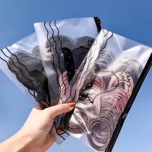 노매듭 헤어끈 여성 대용량 검정 머리끈 100개 노매듭