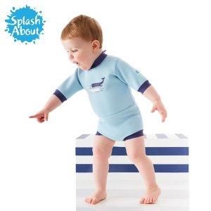 (스플래쉬어바웃(Splashabout)) 수영장기저귀 일체형 아기수영복 해피내피 웨트슈트(빈티지모비)