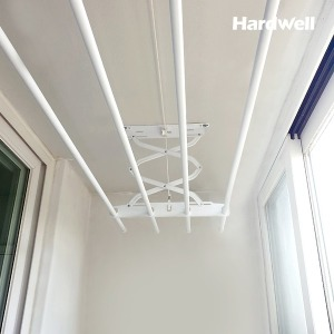 하드웰 베란다 천장 빨래건조대 PVC코팅봉 표준형