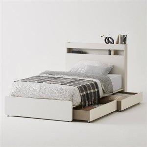 클로즈 침대 SS 슈퍼싱글 코튼그레이(하부서랍 포함/매트별도)