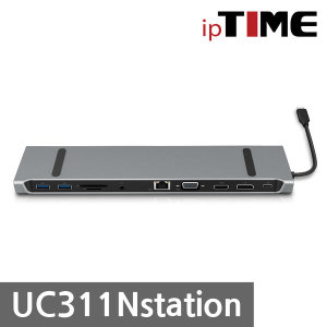 IPTIME UC311Nstation 11in1 멀티포트 도킹 스테이션