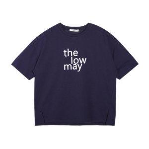 여성 오버핏 타이포 반팔 티셔츠(FHOMCTR502M)